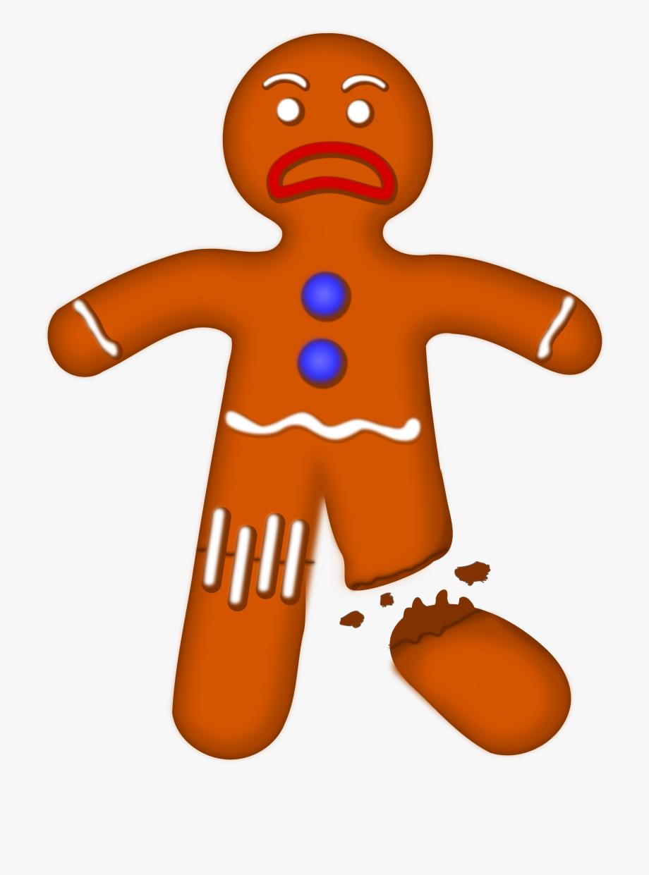 Gingerbread Clipart Sad.