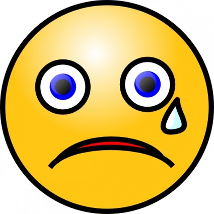 clipart disappointed face #5