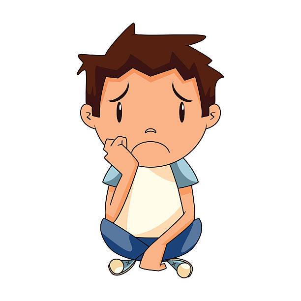 Child Sad Clipart.