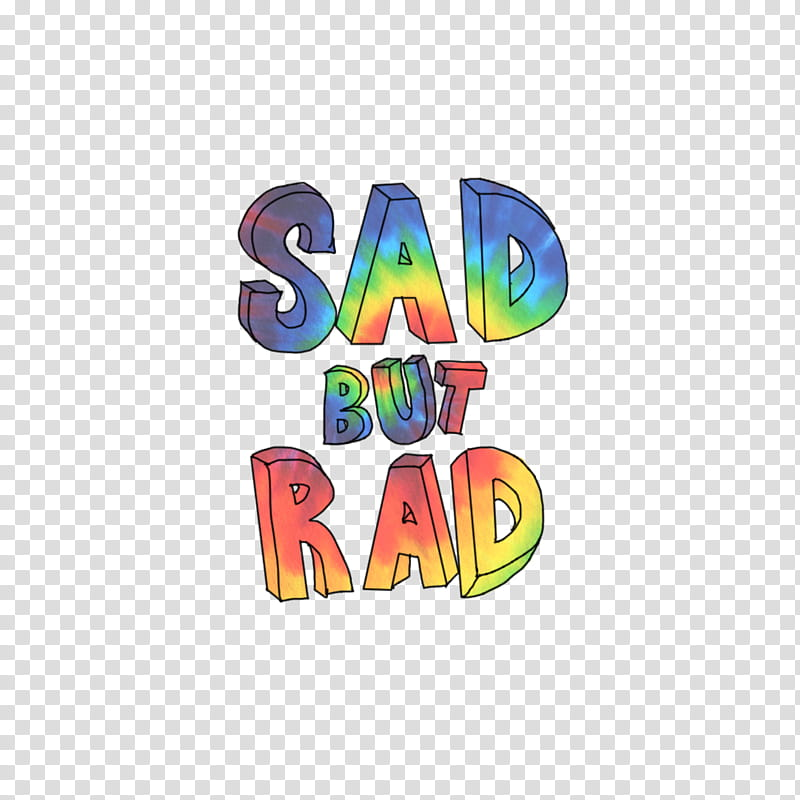 WATCHERS, Sad but Rad text art transparent background PNG.