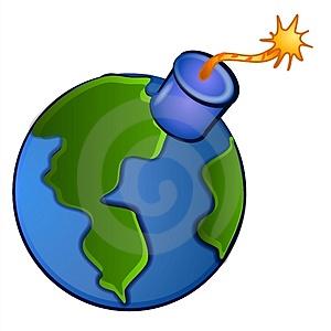 Sad Earth Clipart.