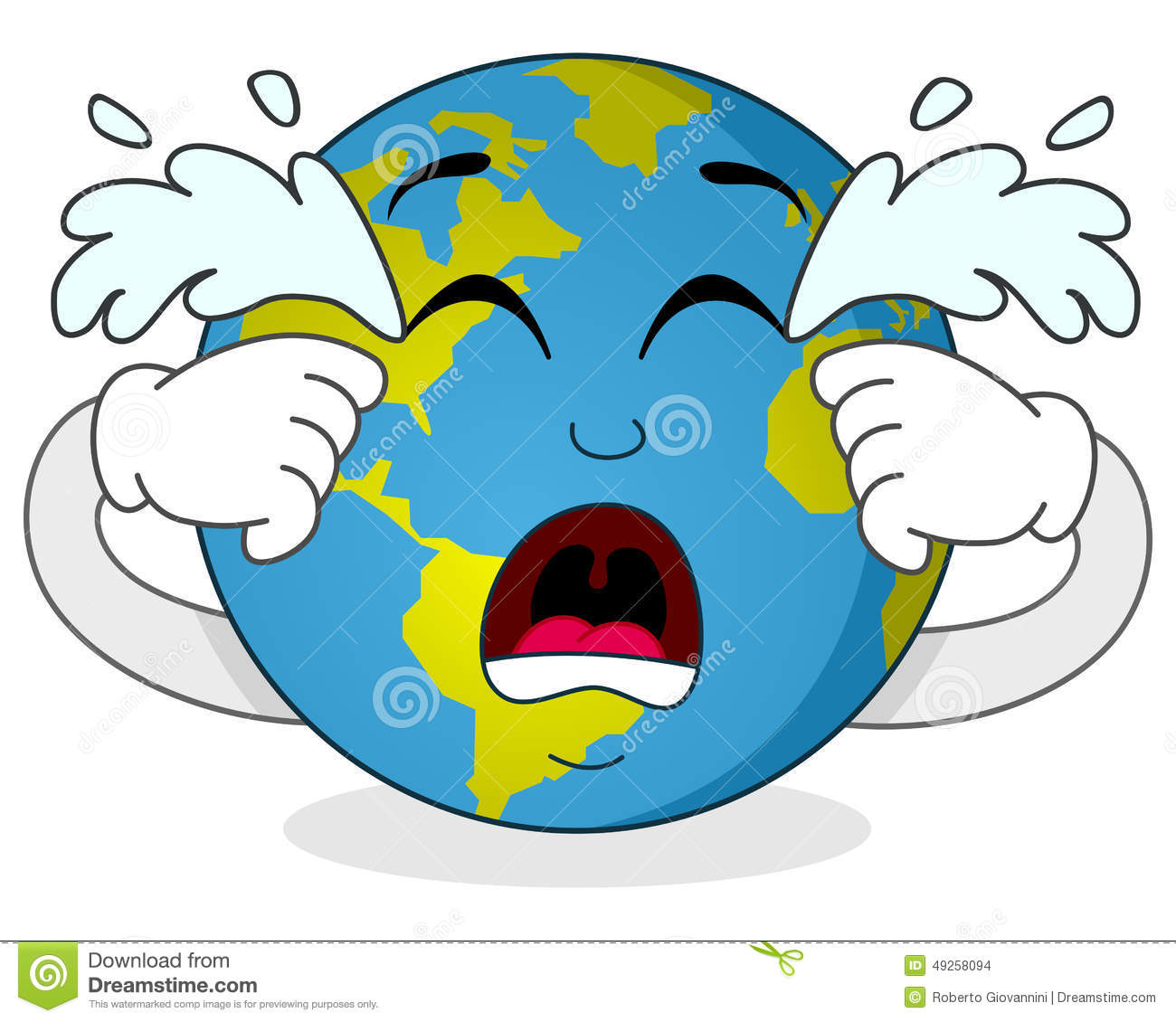 Earth Crying Clipart.
