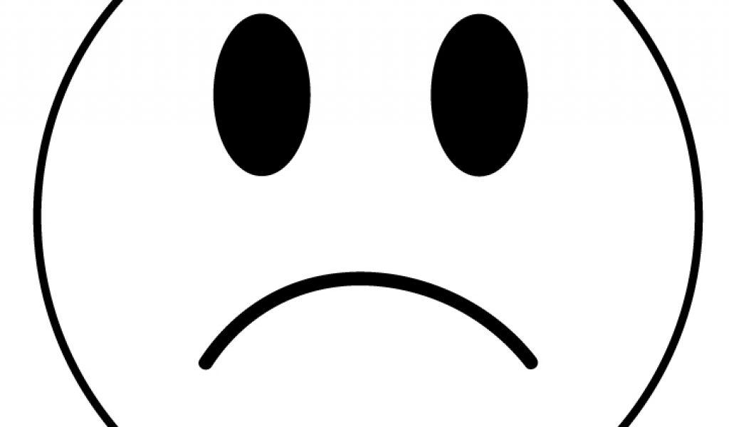 Sad face clipart clipart.