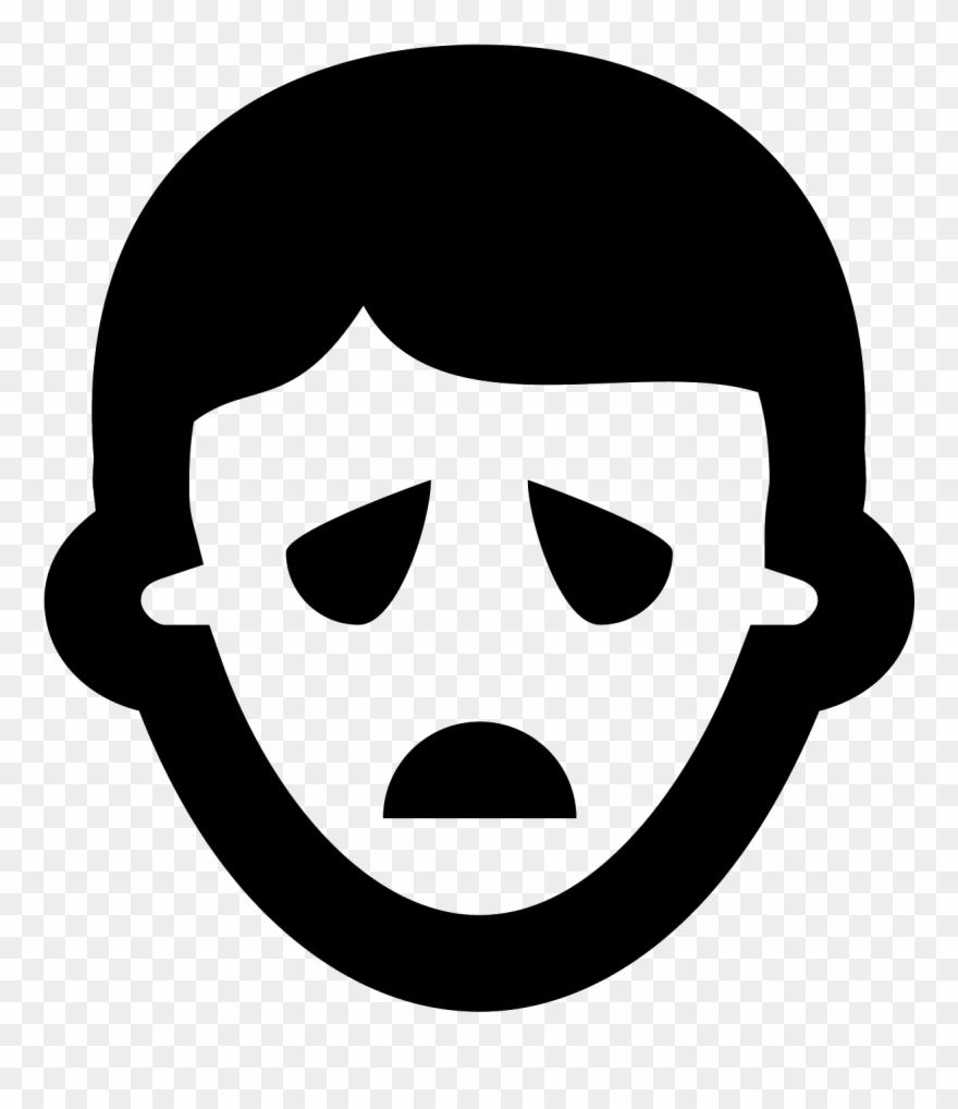 Sad Face Icon Clipart (#452957).
