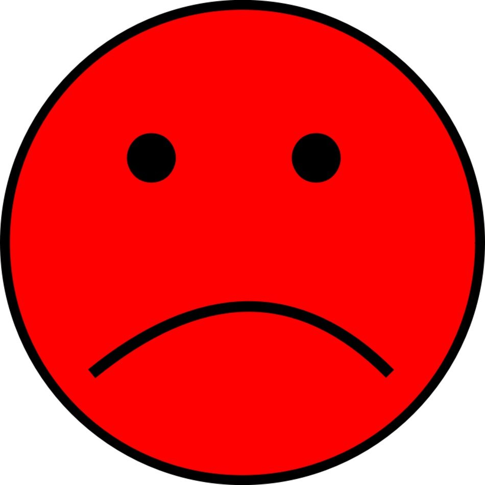 Red Sad Face Clip Art N8 free image.