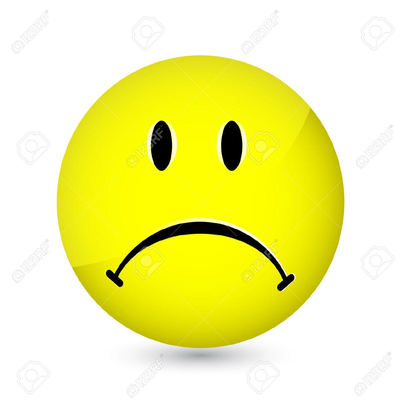 Sad face clip art.