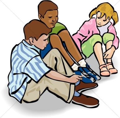 Group Of Kids Sitting Clipart.