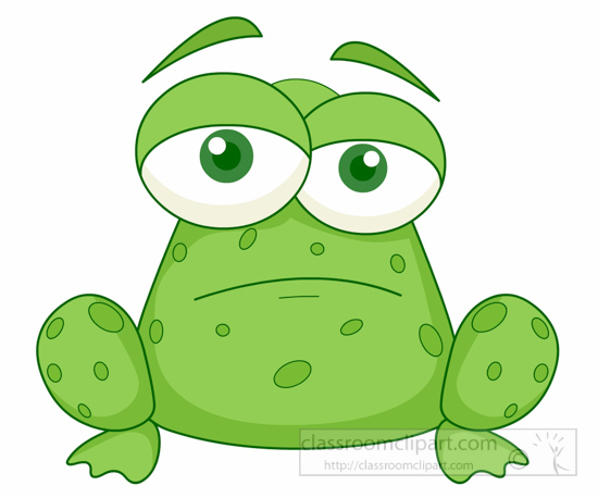 Sad Frog Clipart Clipground