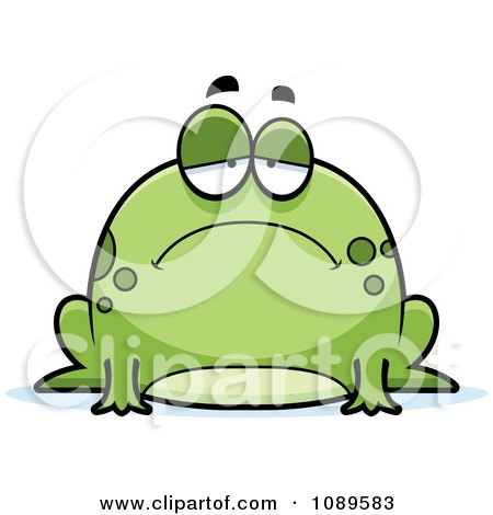 Sad Frog Clipart.