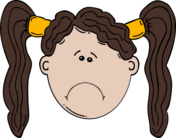 Sad Girl Clipart.