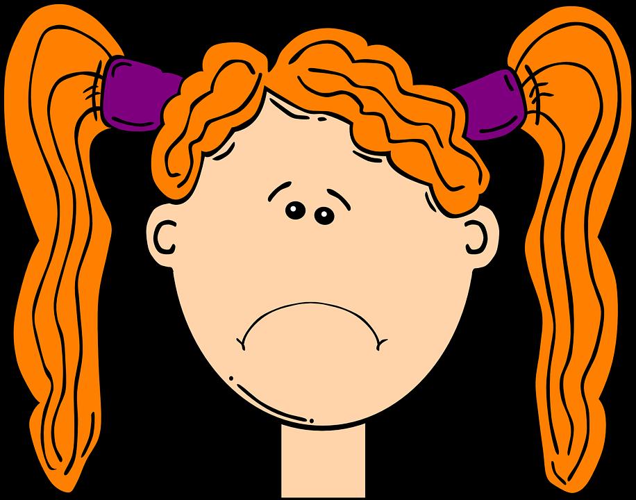 Free vector graphic: Head, Red, Girl, Child, Orange.