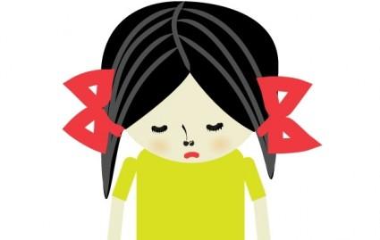 Girl Sad Face Clipart.