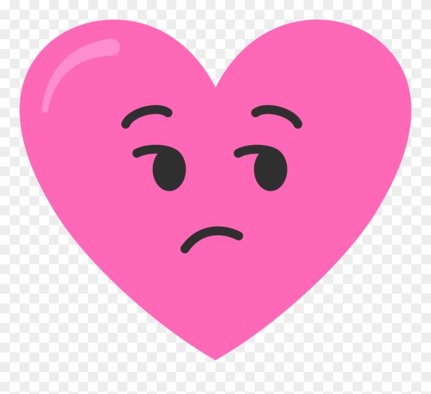 Kinda Sad Pink Heart Clipart (#3092845).