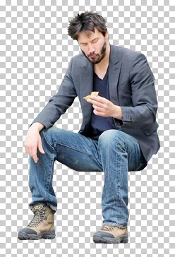 Sad keanu clipart Transparent pictures on F.