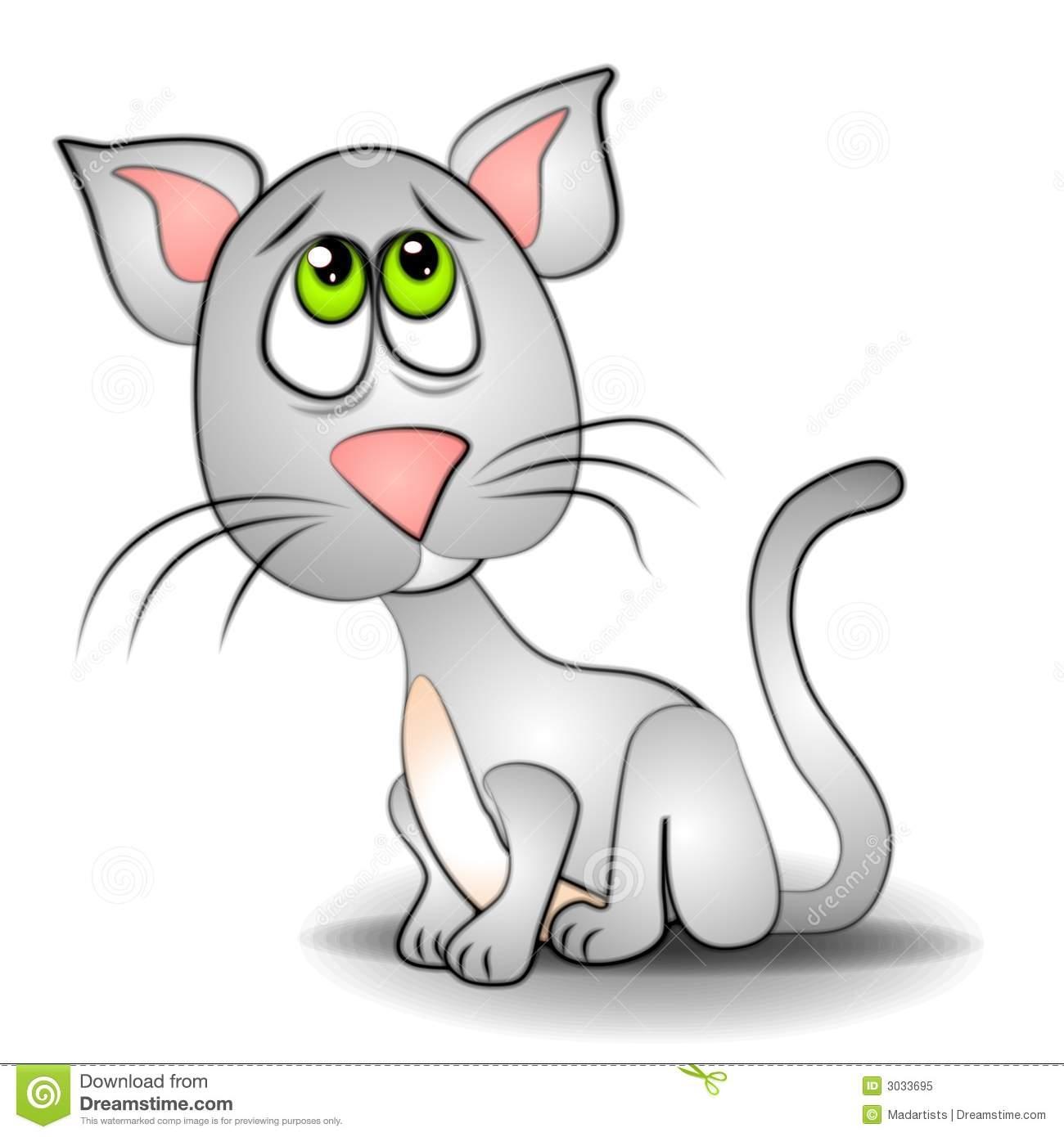 Sad Cat Clipart.