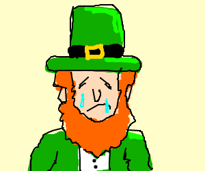 Sad Leprechaun Cliparts.
