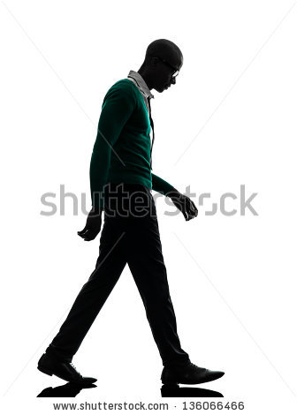 One African Black Man Thinking Pensive Stock Photo 136066469.