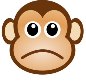 Sad Monkey Clip Art at Clker.com.