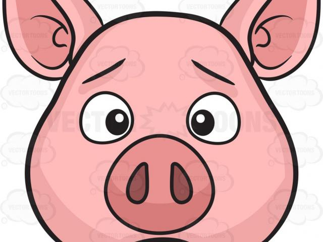 Sad Pig Cliparts 8.