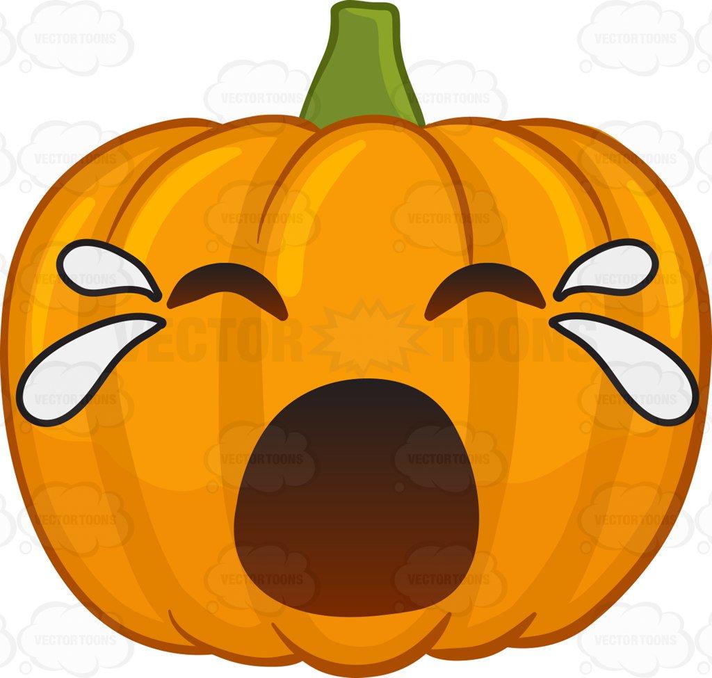 Crying Pumpkin Clipart.