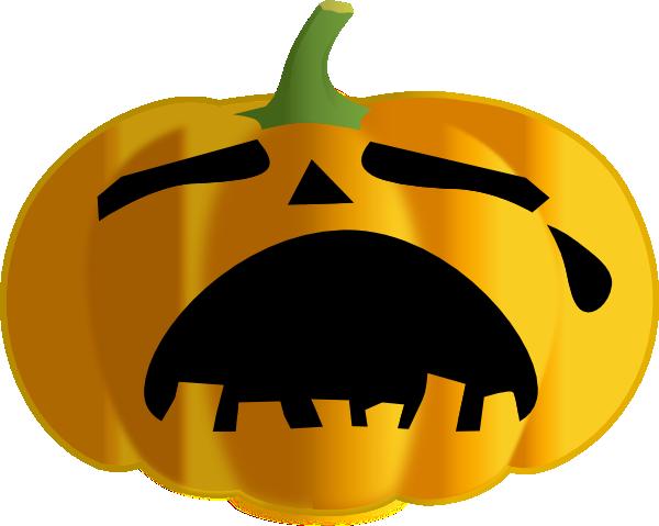 Sad Pumpkin Clipart.