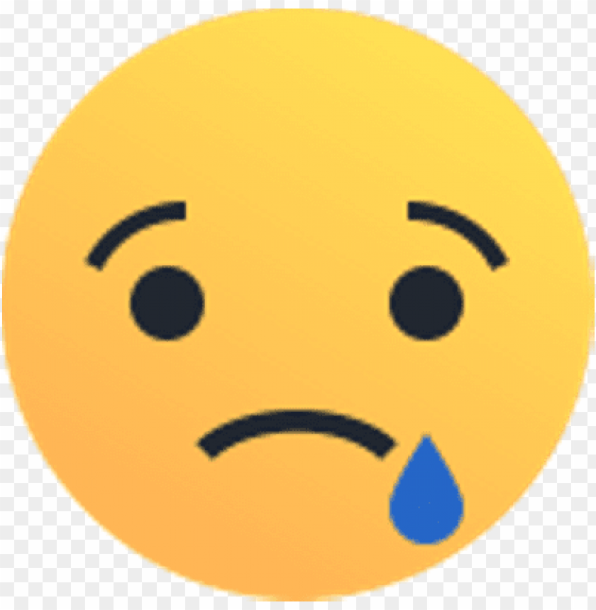 facebook sad react PNG image with transparent background.