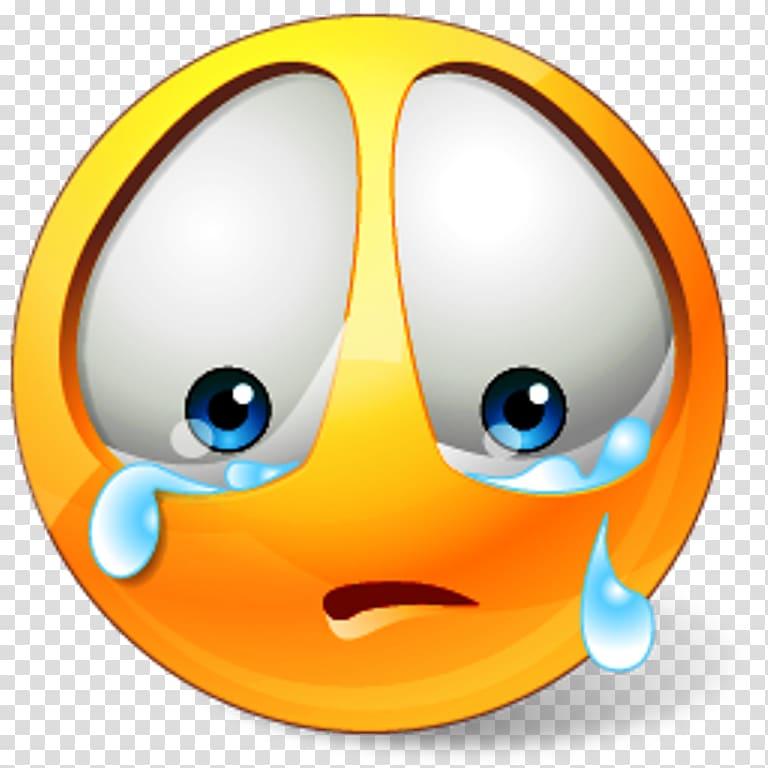 Crying emoji sticker, Smiley Sadness Emoticon , Of Sad.