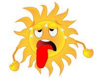 Sad Sun Clip Art.