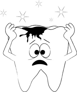 Sad Tooth Clipart.