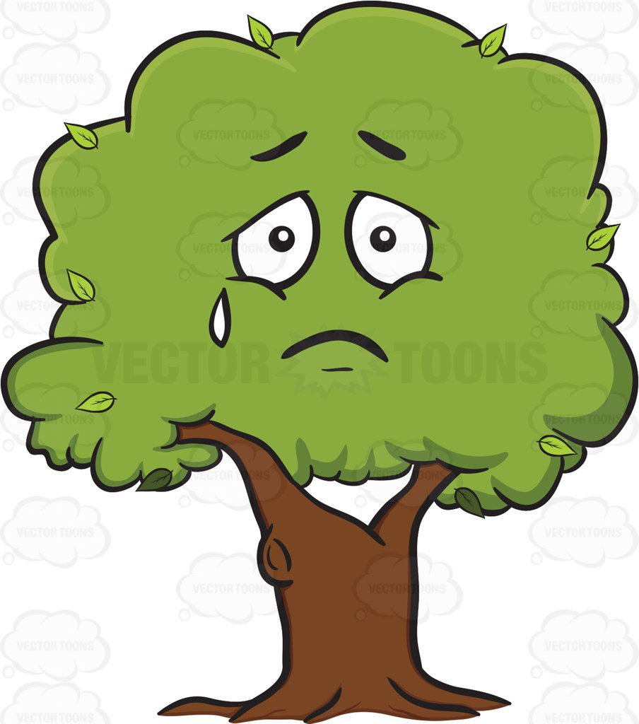 Sad Tree Clipart.
