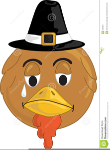 Sad Turkey Clipart.