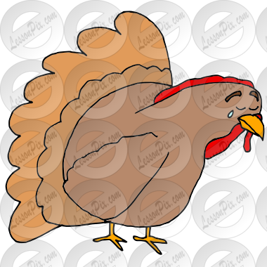Sad Turkey Picture for Classroom / Therapy Use.