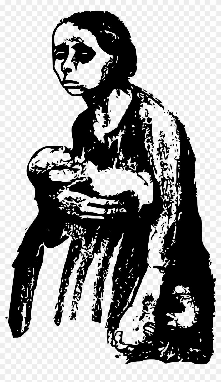 Depression Clipart Sad Mother.