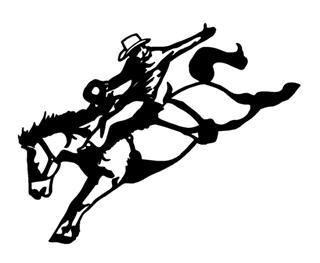 Saddle Bronc v2 Decal Sticker.