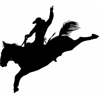 Saddle bronc clipart.