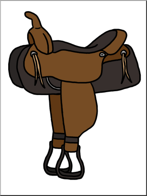 Western Saddle Clipart.