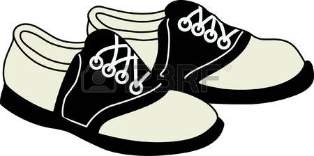 Saddle shoes clipart.