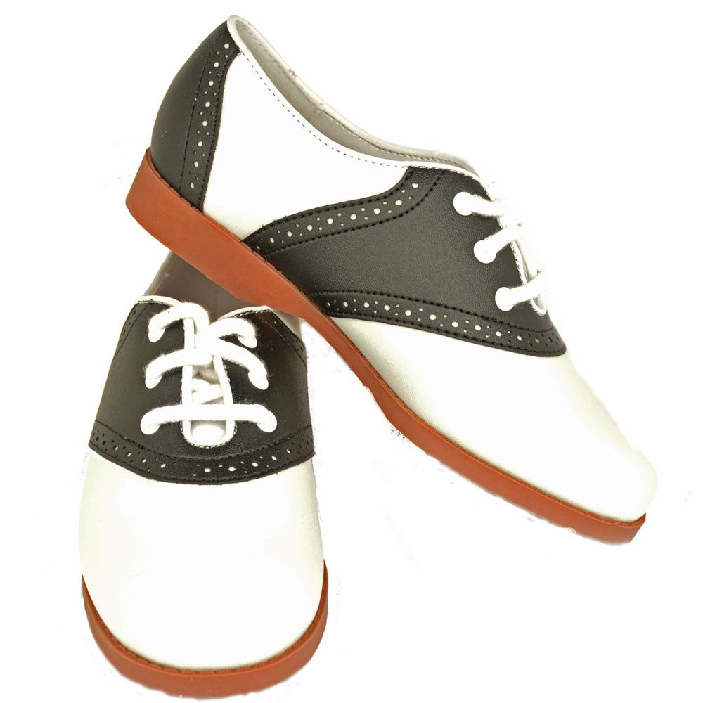 Details about 1950s Child Classic Style Oxford Saddle Shoes.