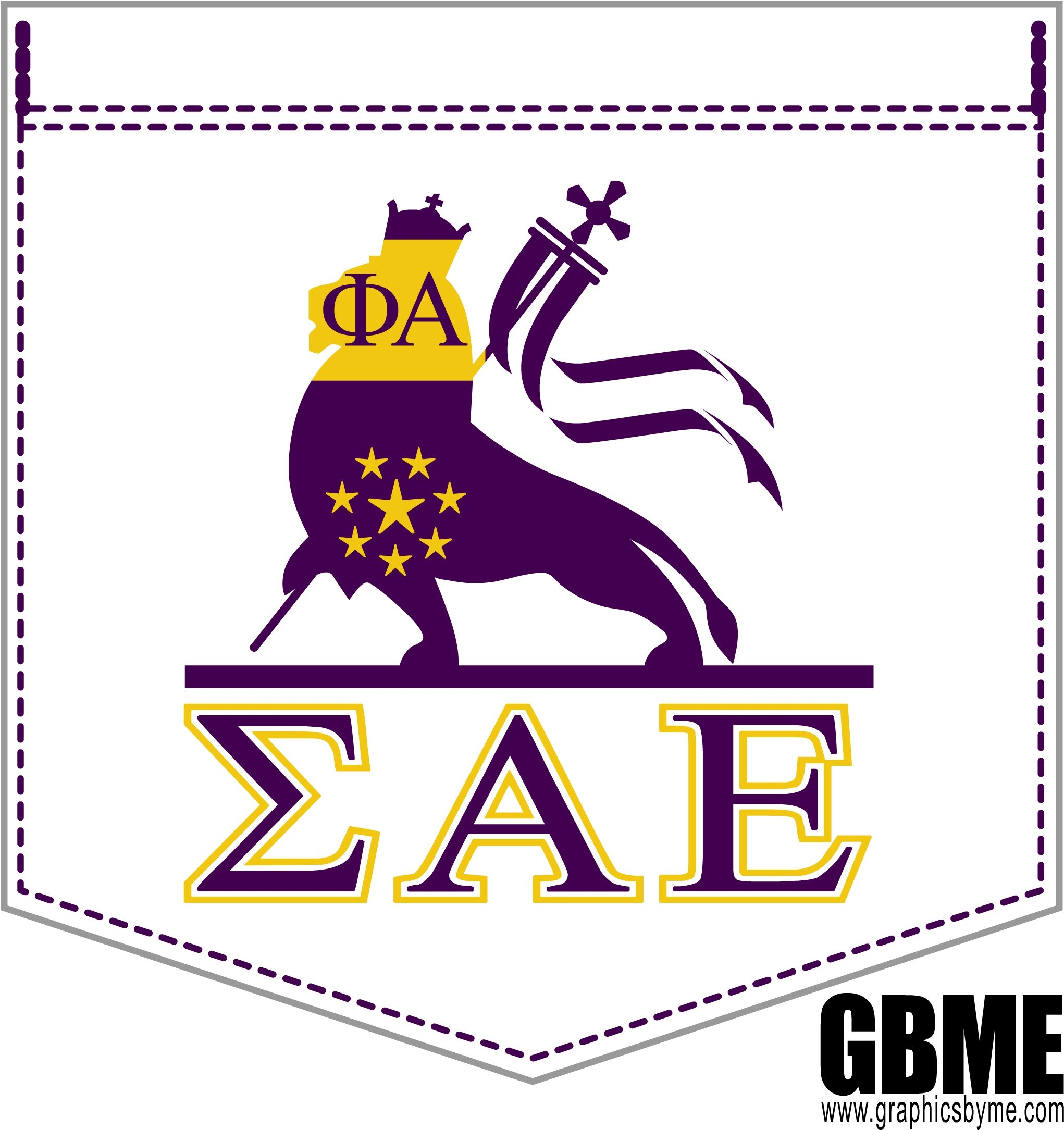GBME Grophic designed for Sigma Alpha Epsilon Fraternity.