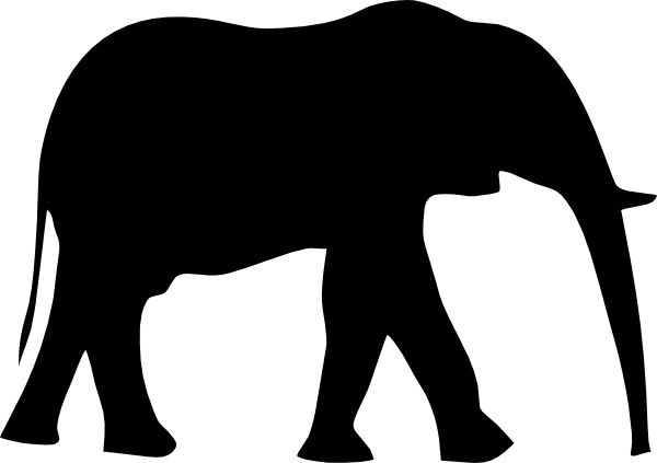 Safari Animal Silhouette Clip Art.