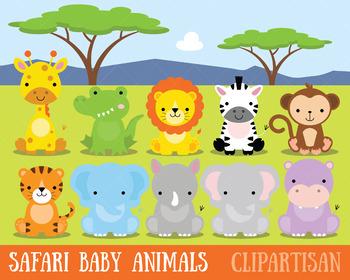 African Animals Clip Art, Safari Animals.
