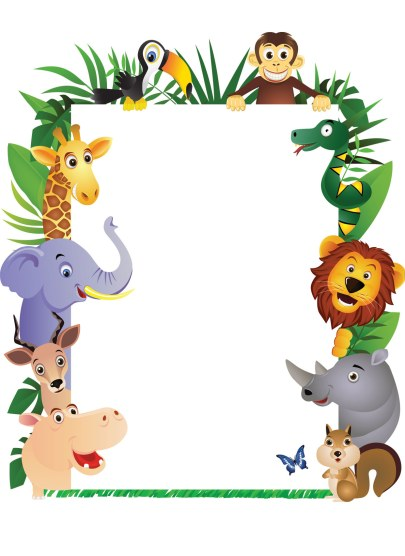 Jungle Theme Border Clipart.