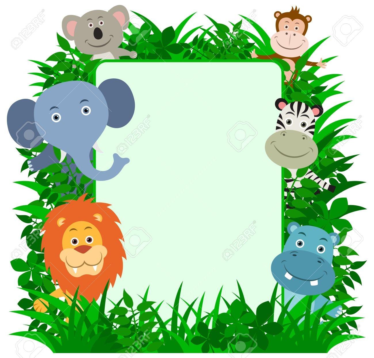 Jungle Border Clipart.