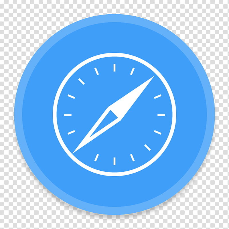 Button UI Requests, blue and white Safari icon transparent.
