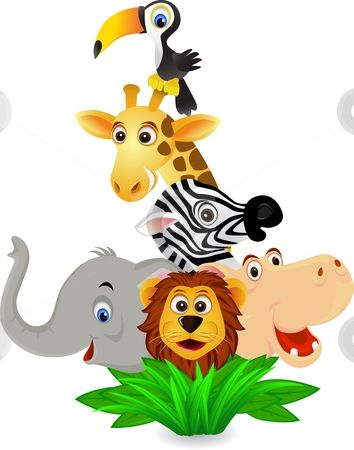 Free Safari Animal Clipart.