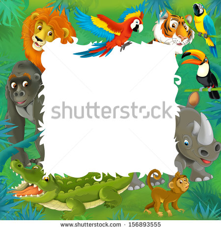 Jungle Border Stock Images, Royalty.