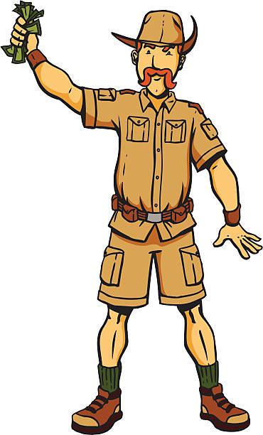 Safari Man Clipart.