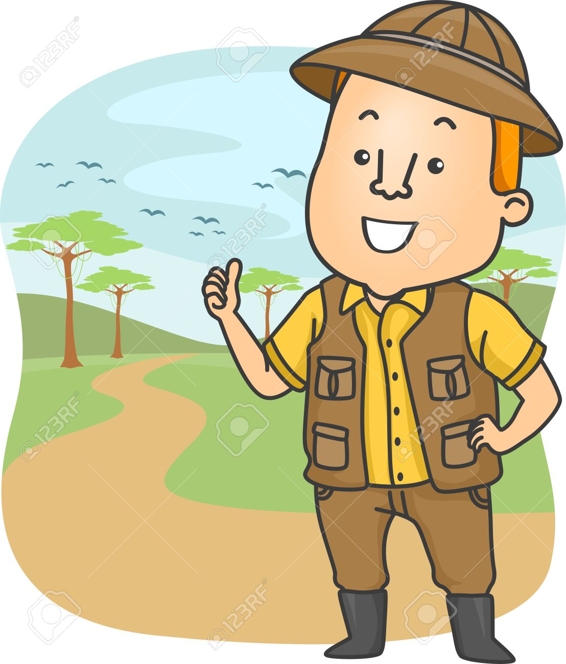 Safari Guy Clipart.