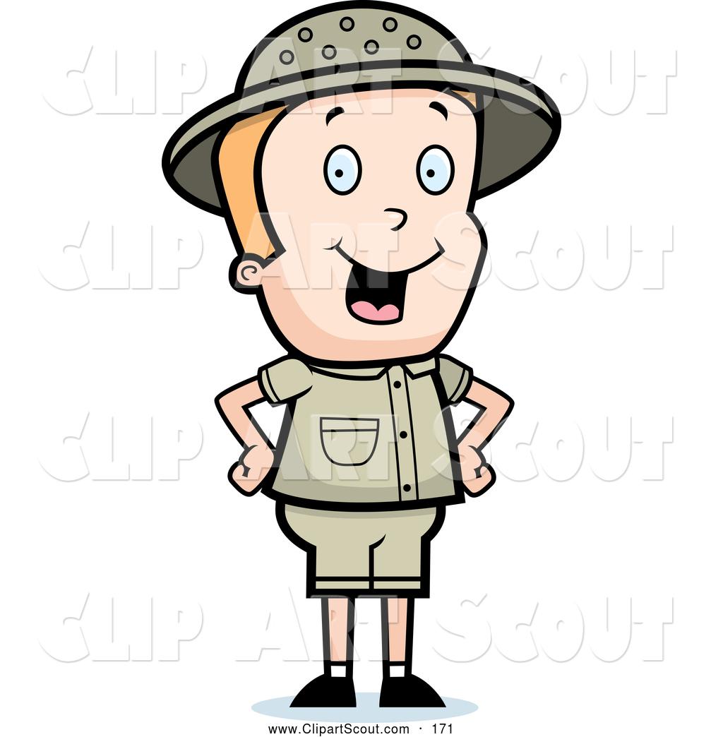 Safari Person Clipart.