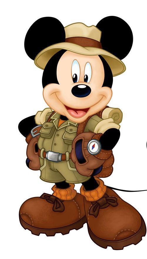 Safari Mickey Mouse Clipart.